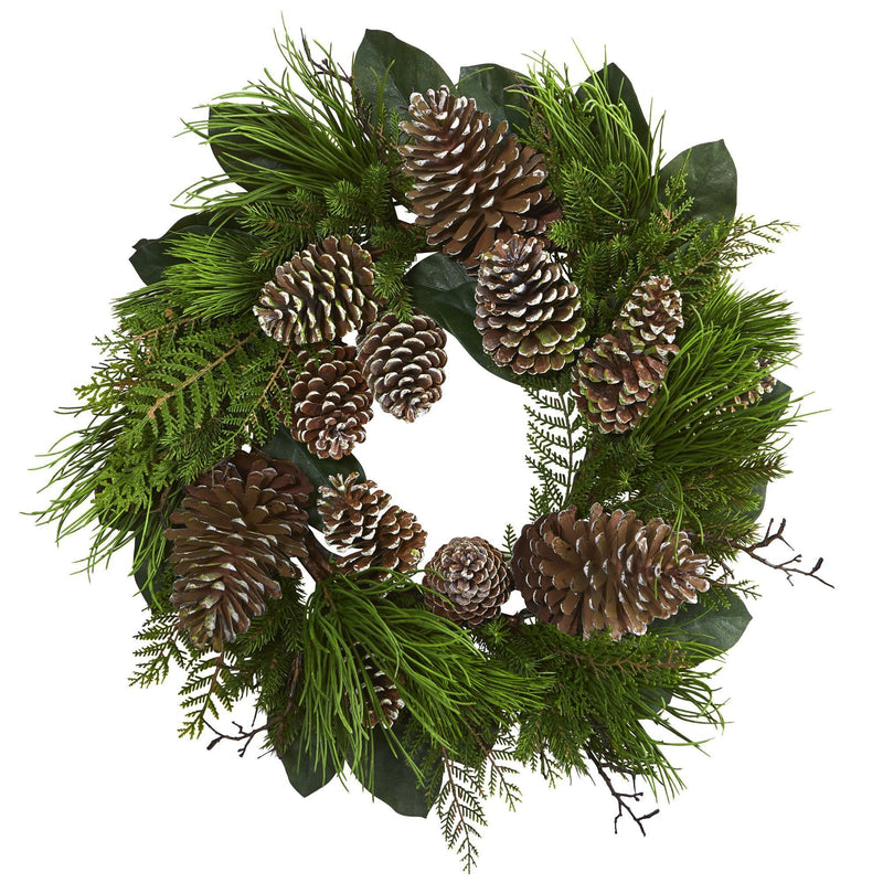 "28"" Pine Cone and Pine Wreath"