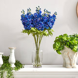 "29"" Delphinium Artificial Arrangement in Glass Vase"