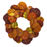 "29"" Fiddle Leaf Artificial Wreath"