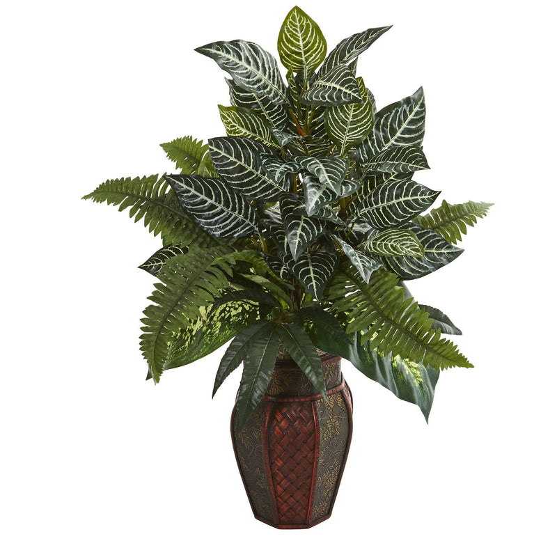 "29"" Artificial Mixed Fern Plant in Decorative Planter"