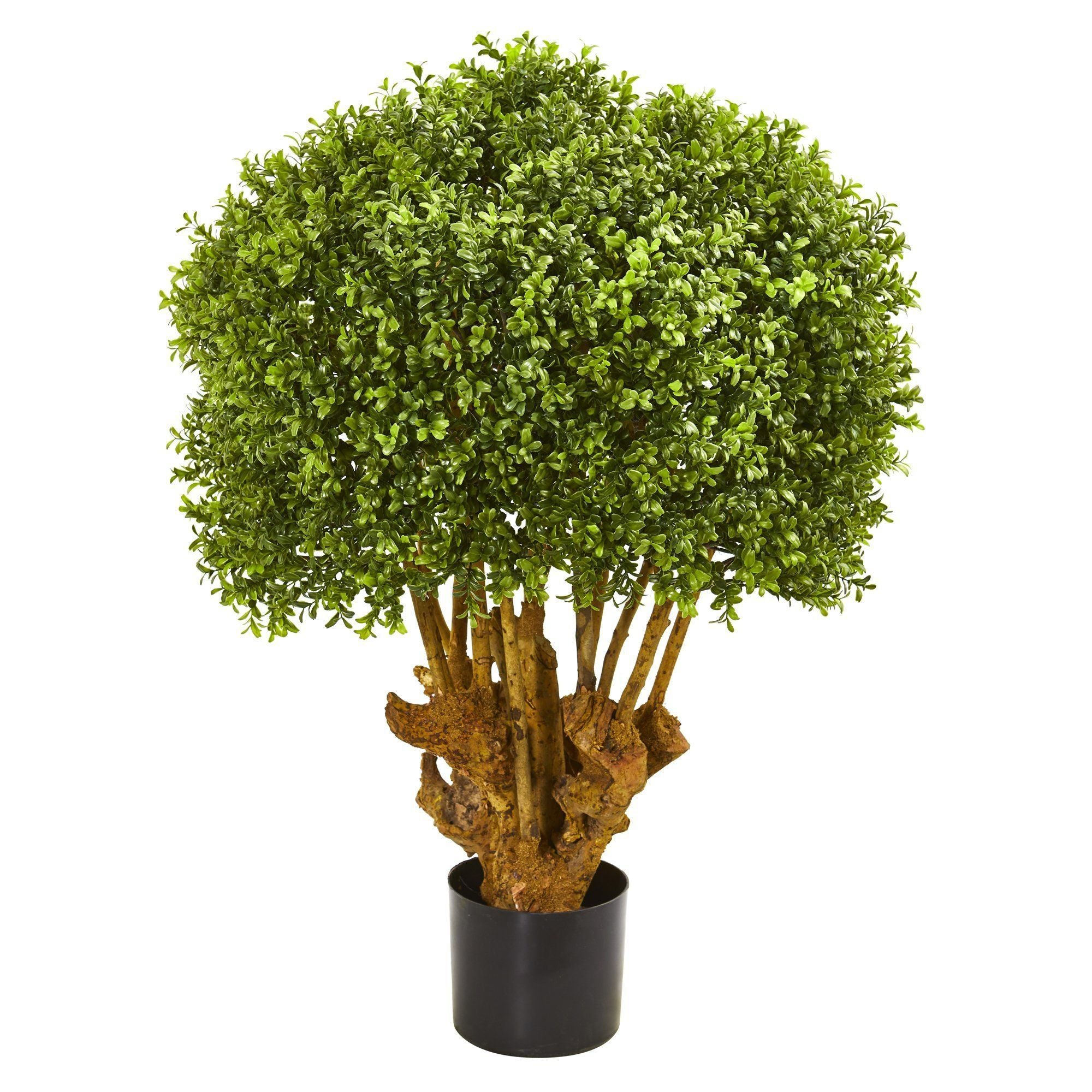 3 Boxwood Artificial Topiary Tree Nearly Natural