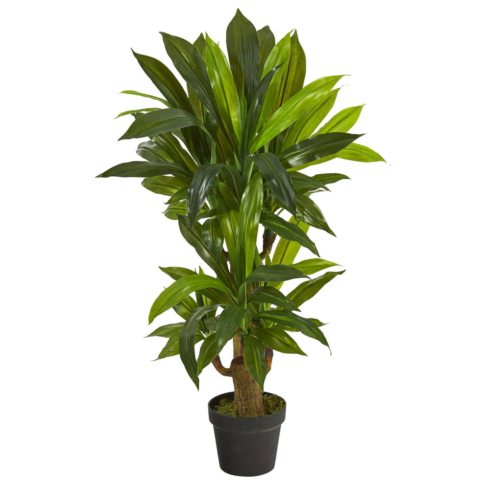 3' Corn Stalk Dracaena Artificial Plant (Real Touch)