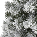3' Flocked West Virginia Fir Artificial Christmas Tree