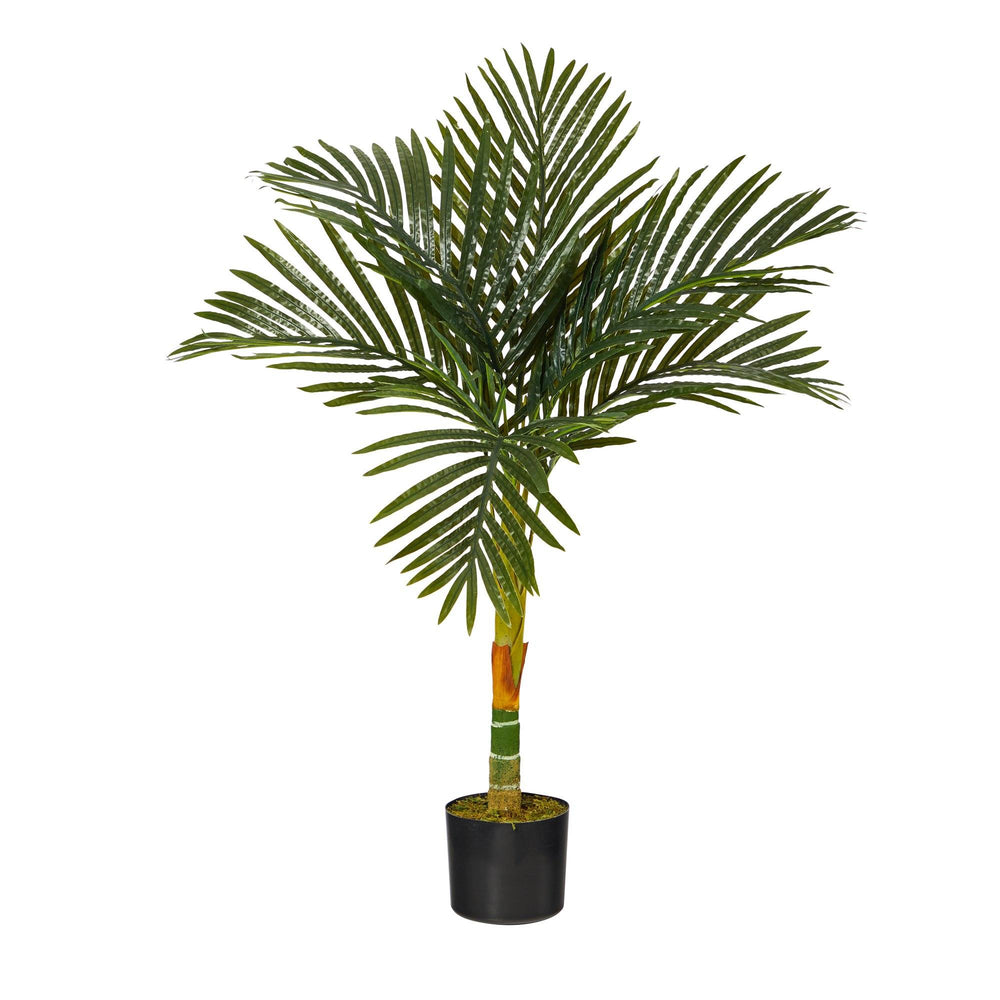 3' Single Stalk Golden Cane Artificial Palm Tree