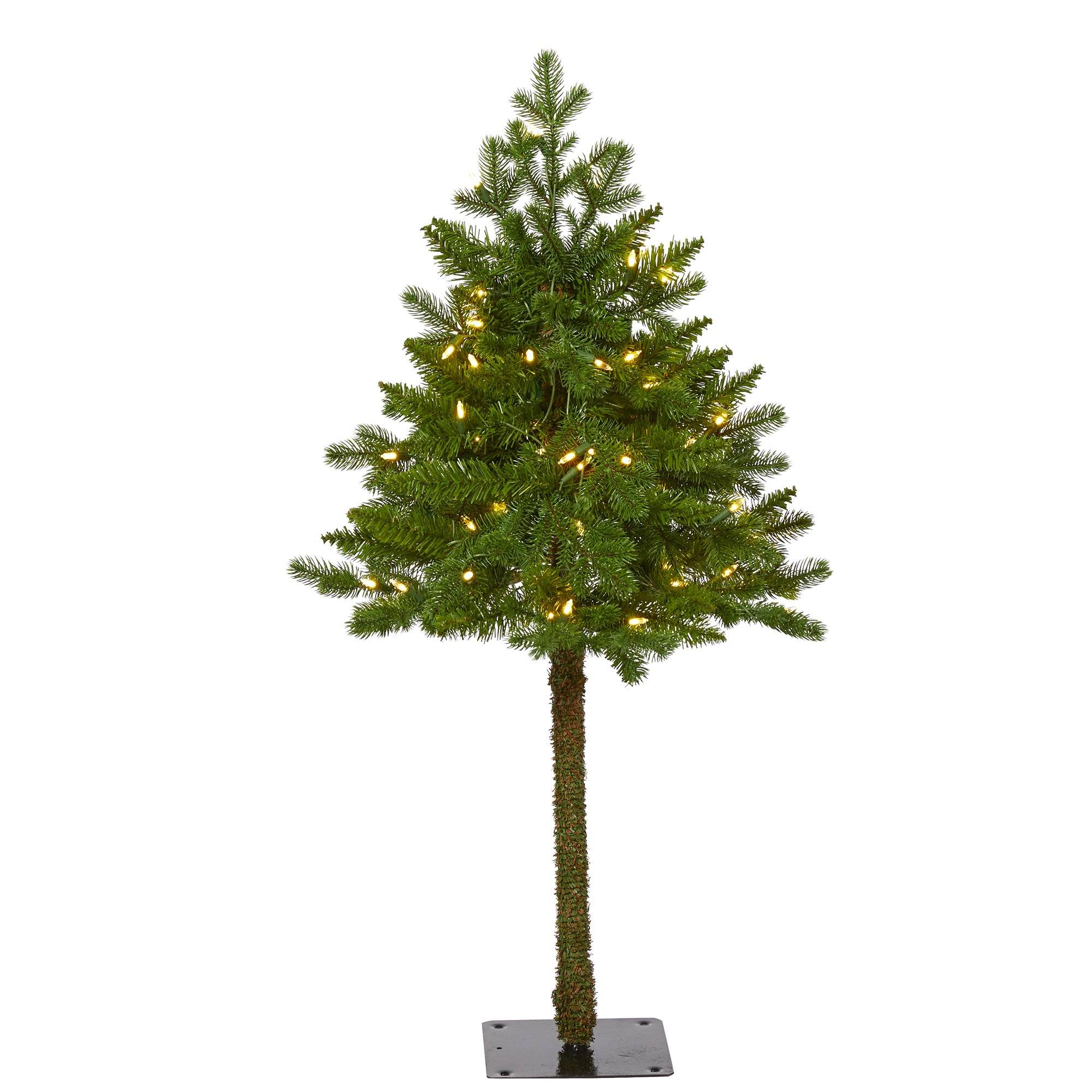 3' Swiss Alpine Artificial Christmas Tree with 50 Clear ...