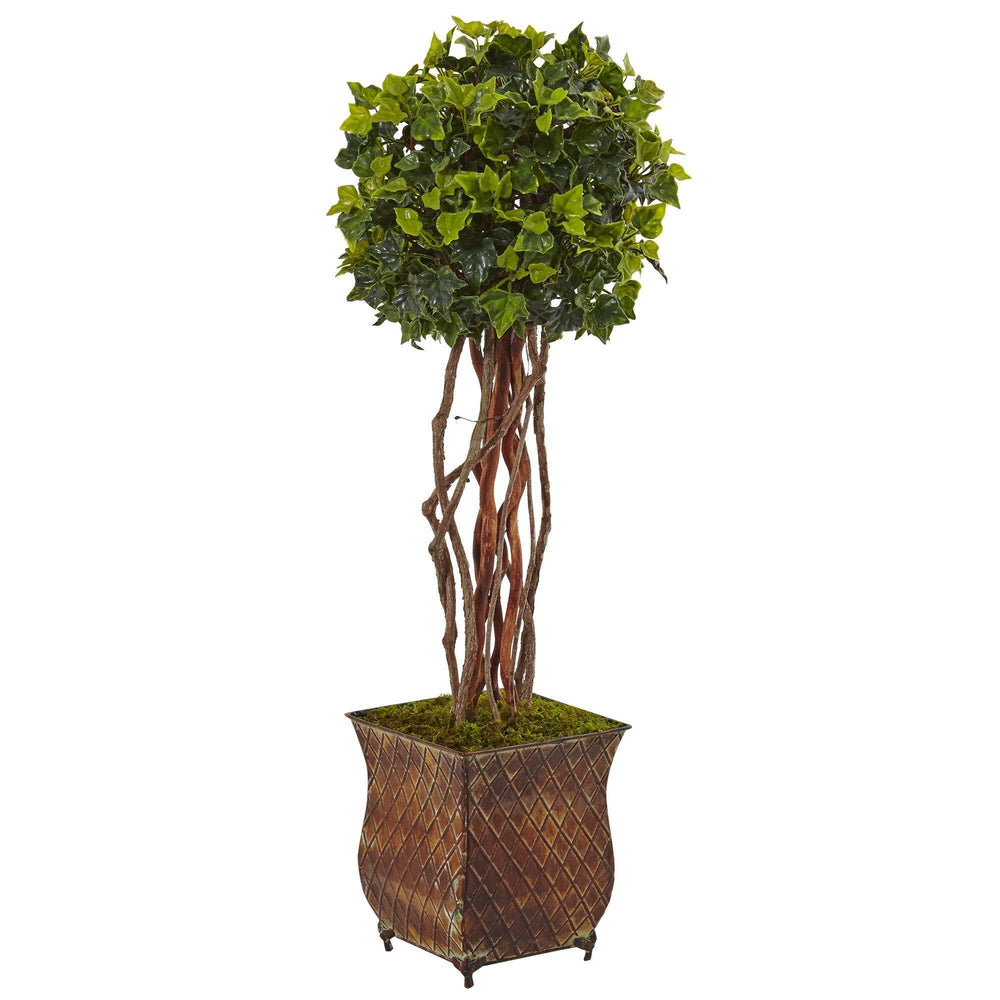 "30"" English Ivy Tree in Planter UV Resistant (Indoor/Outdoor)"