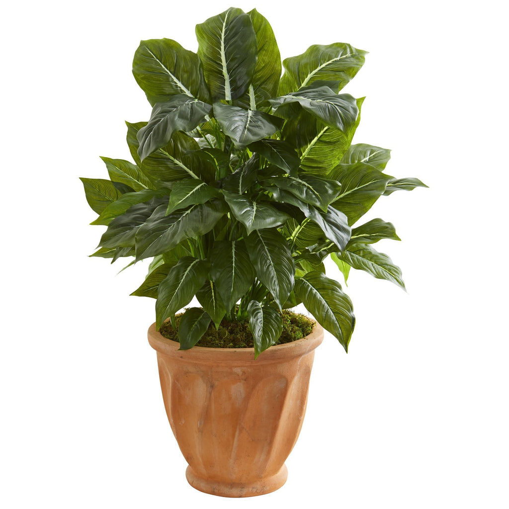 30 Evergreen Artificial Plant In Terracotta Planter Real Touch Nearly Natural