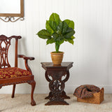 "30"" Large Philodendron Leaf Artificial Plant in Decorative Planter"
