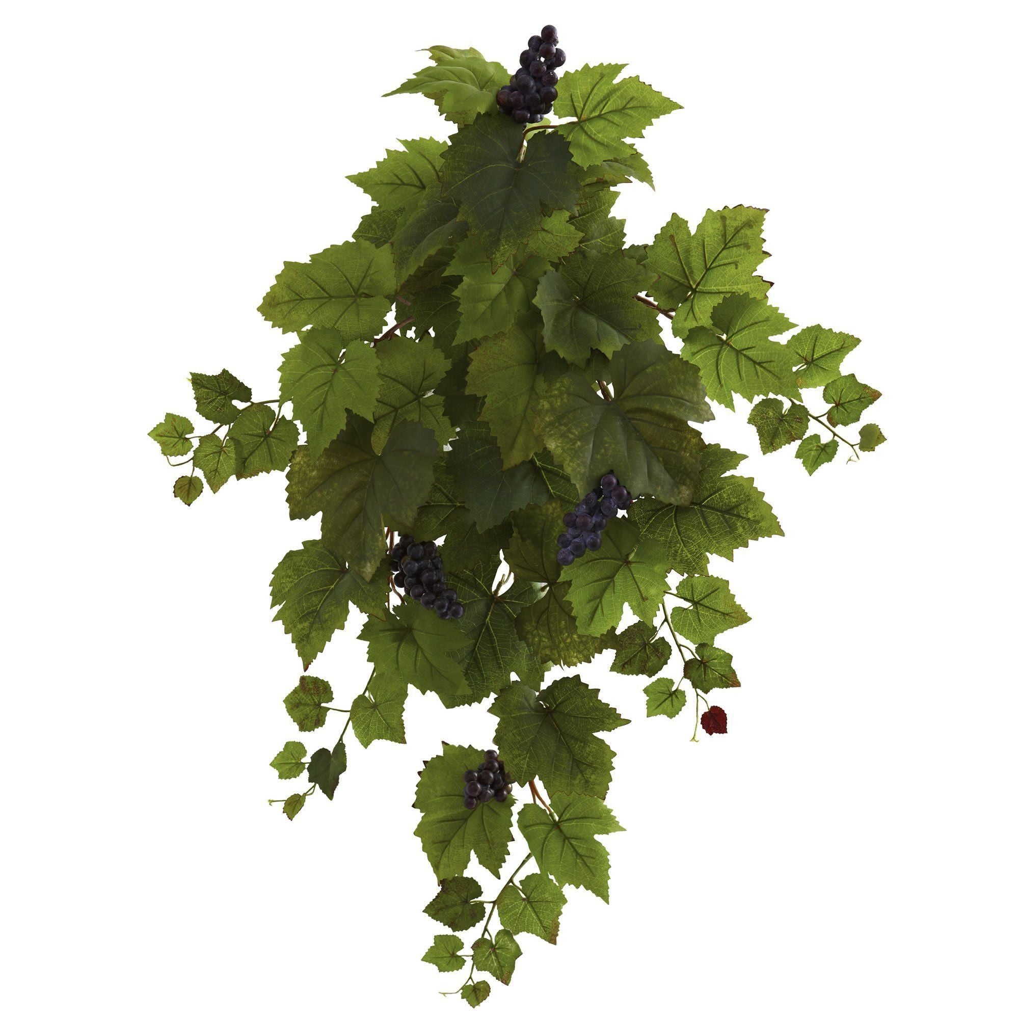 31 Grape Hanging Leaf Artificial Plant Set Of 2 Nearly Natural