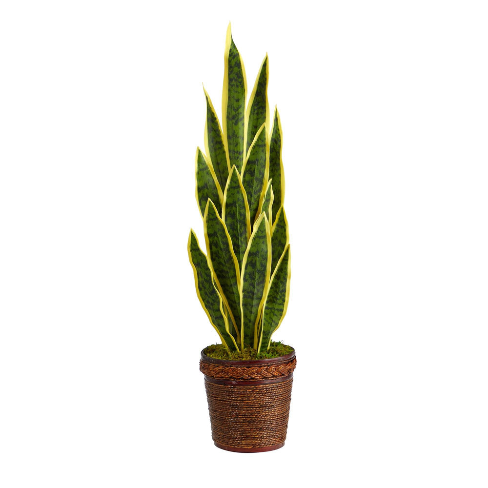 "34"" Sansevieria Artificial Plant in Basket"