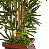 3.5' Bamboo Tree in Wooden Decorative Planter