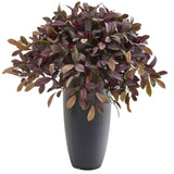 "35"" Fall Laurel with Berries Artificial Plant in Gray Planter"