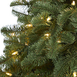 3.5' South Carolina Spruce Artificial Christmas Tree with 100 White Warm Light and 458 Bendable Branches in Decorative Urn