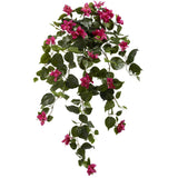 "37"" Bougainvillea Hanging Artificial Plant (Set of 2)"