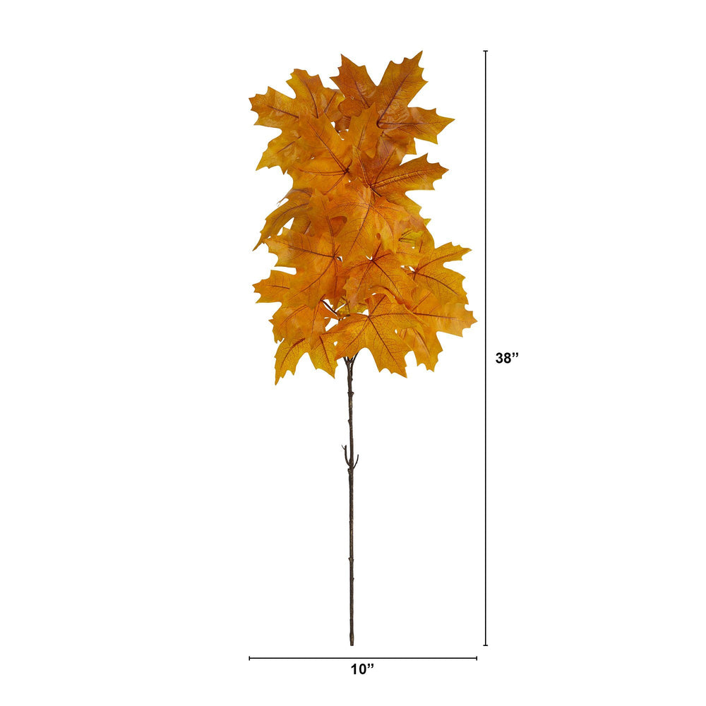 "38"" Autumn Maple Leaf Artificial Flower (Set of 6)"