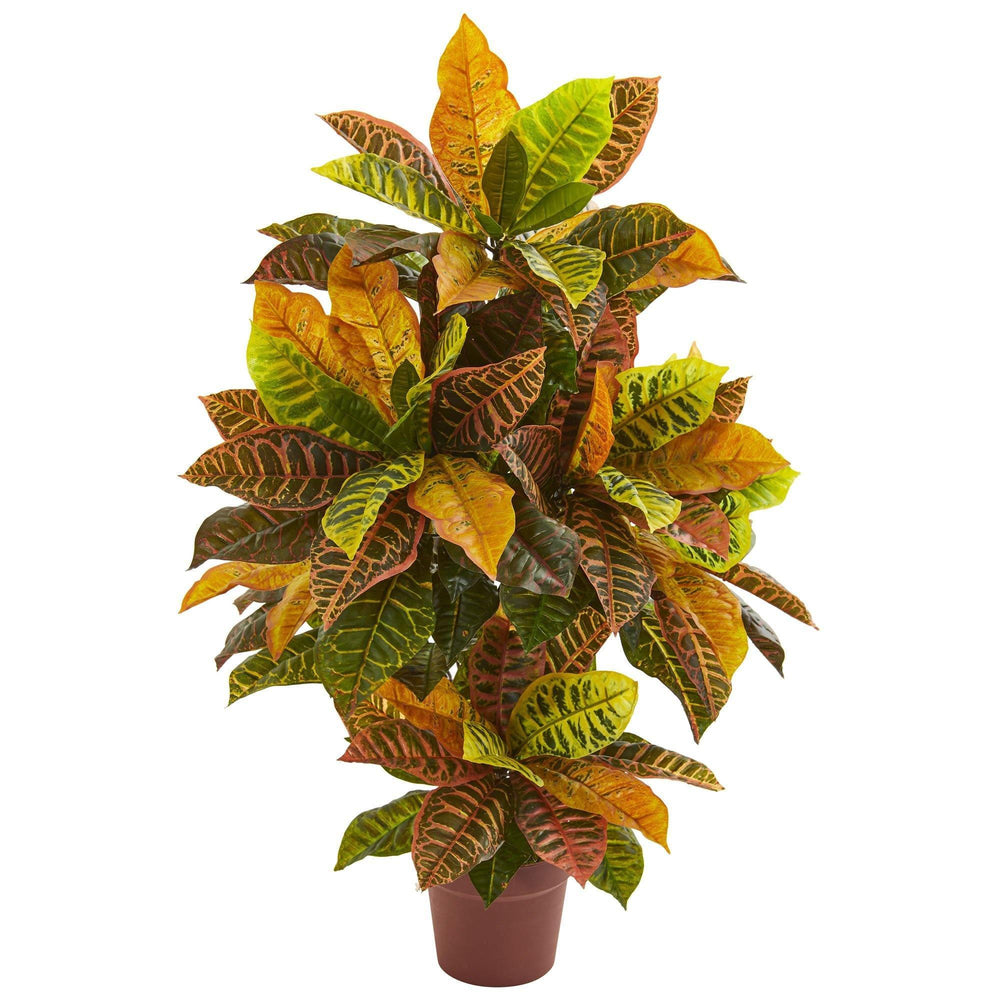 39 Croton Artificial Plant Real Touch Nearly Natural