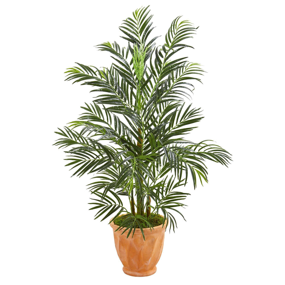 4' Areca Palm Artificial Tree in Terra-cotta Planter UV Resistant (Indoor/Outdoor)