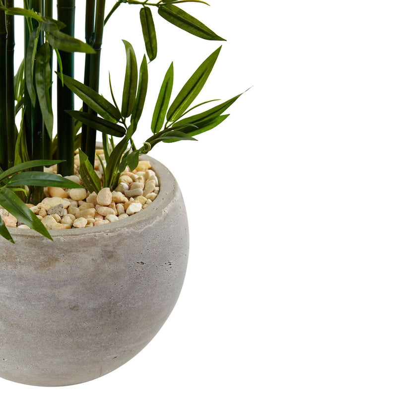 4' Green Bamboo Artificial Tree in Sand Colored Bowl