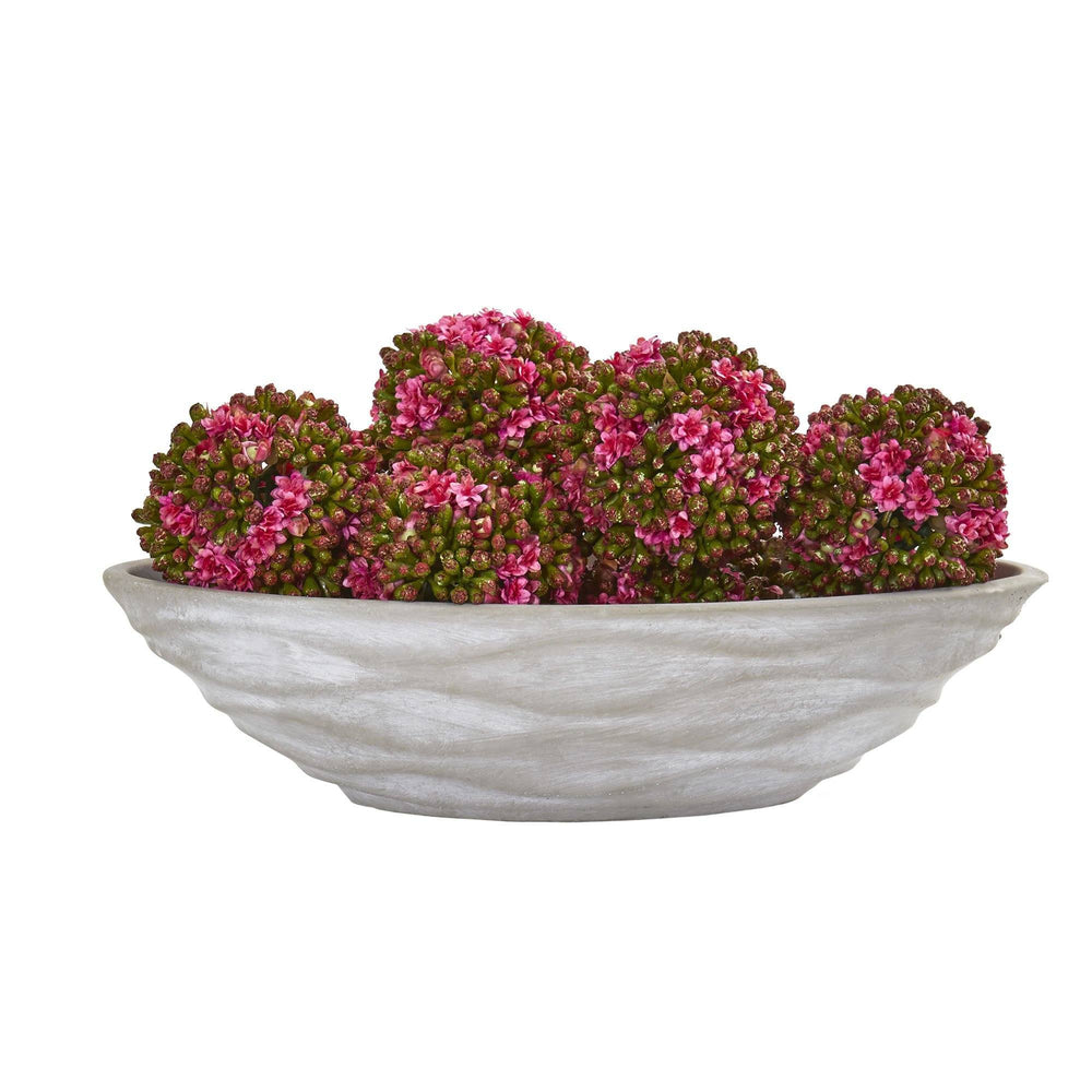"4"" Artificial Kalanchoe Ball (Set of 6)"