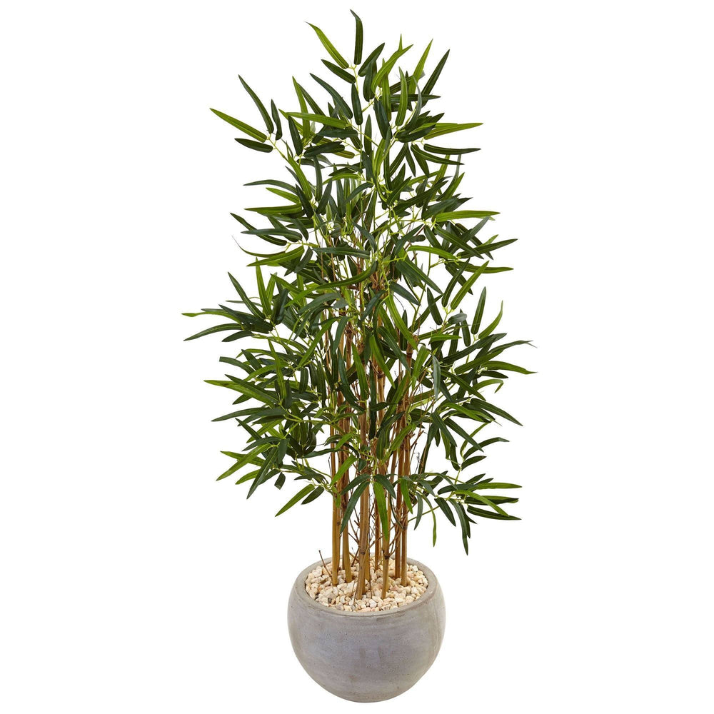 4' Beige Bamboo Artificial Tree in Sand Colored Bowl