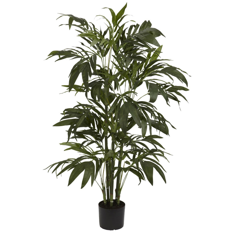 4' Green Bamboo Palm Artificial Silk Tree