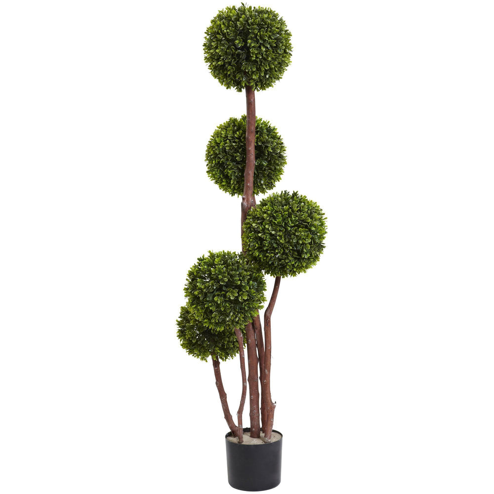 4' Boxwood Five Ball Topiary UV Resistant (Indoor/Outdoor)