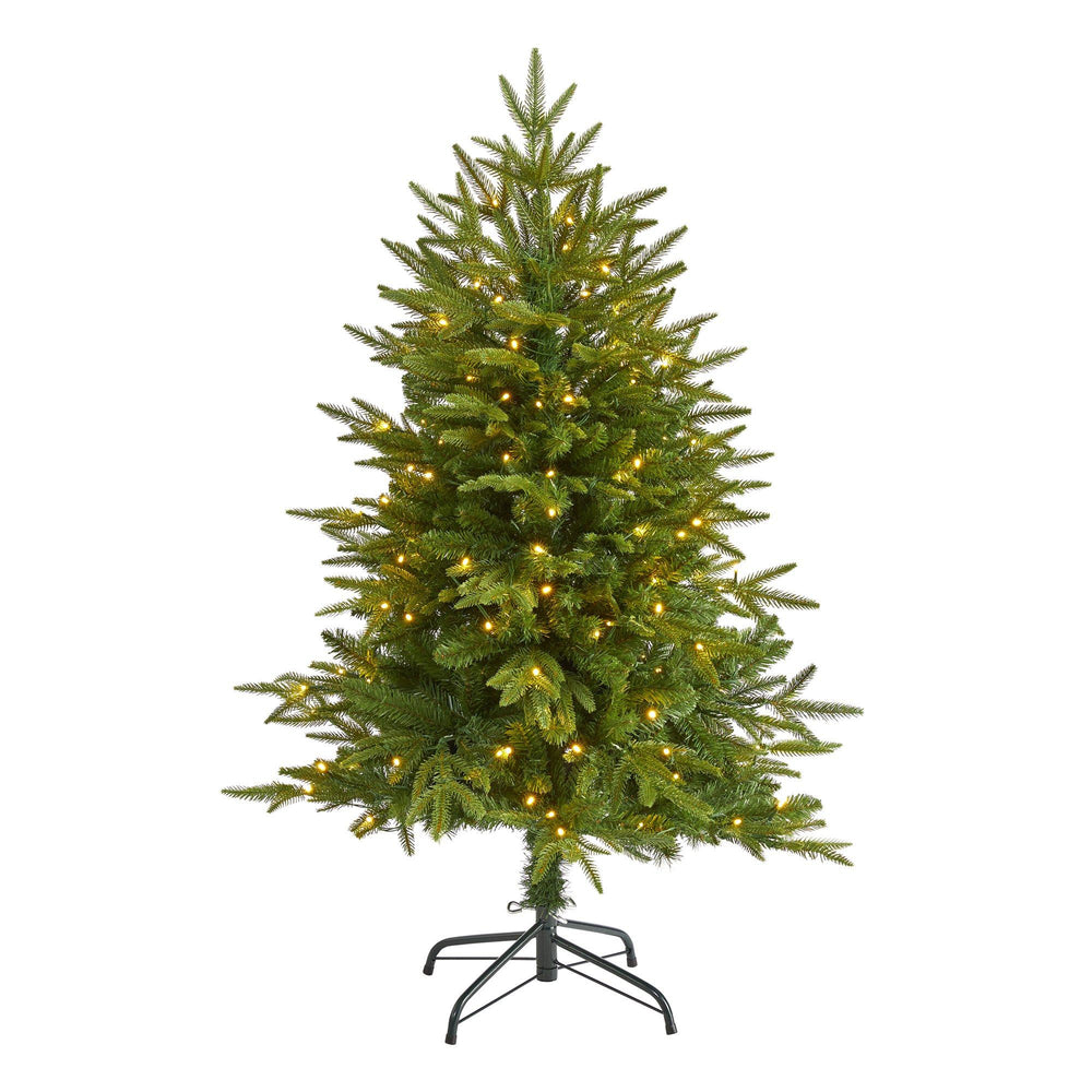 "4' Colorado Mountain Fir ""Natural Look"" Artificial Christmas Tree with 150 Clear LED Lights"