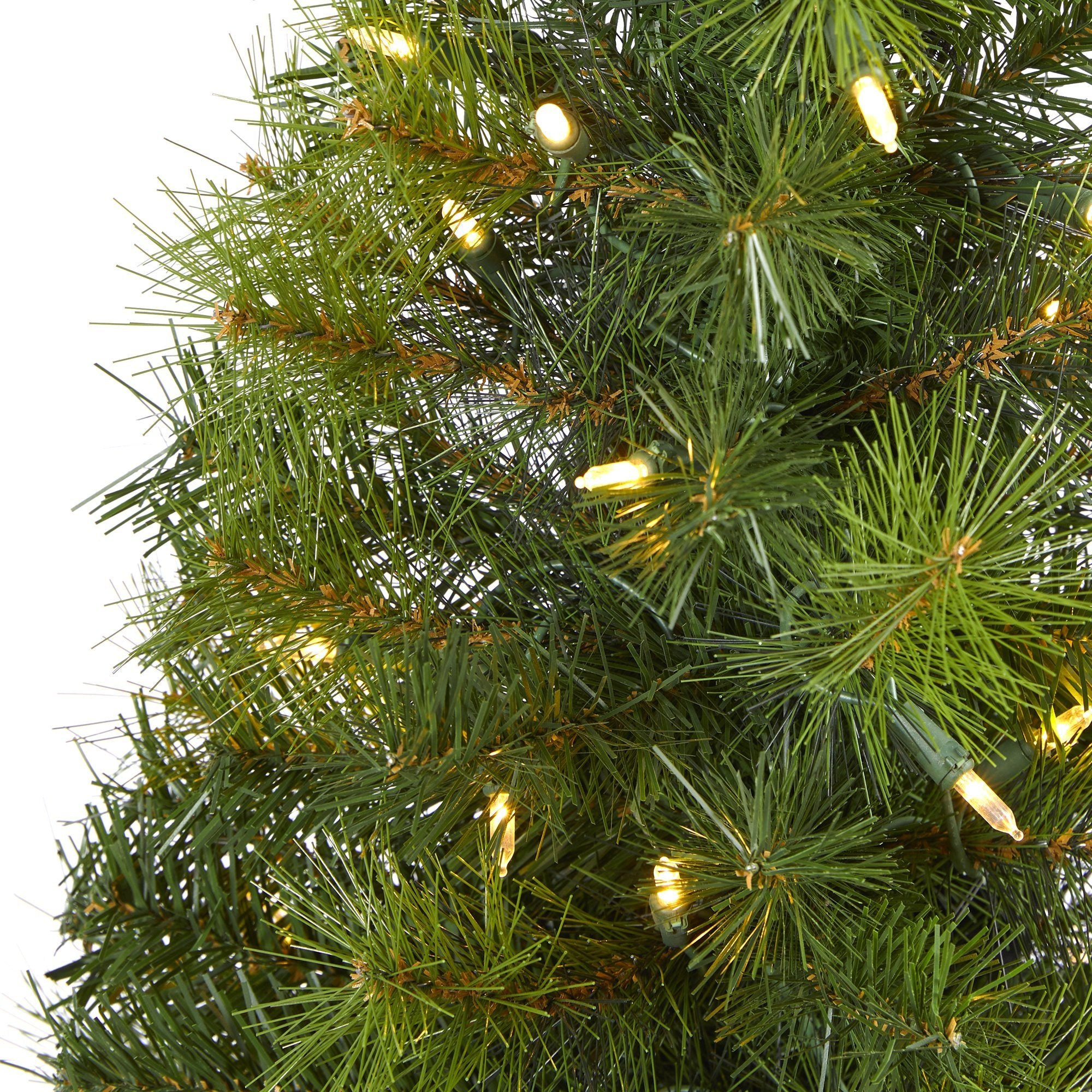 4 Green Valley Pine Artificial Christmas Tree With 100 Warm White Led Lights And 201 Bendable Branches Nearly Natural
