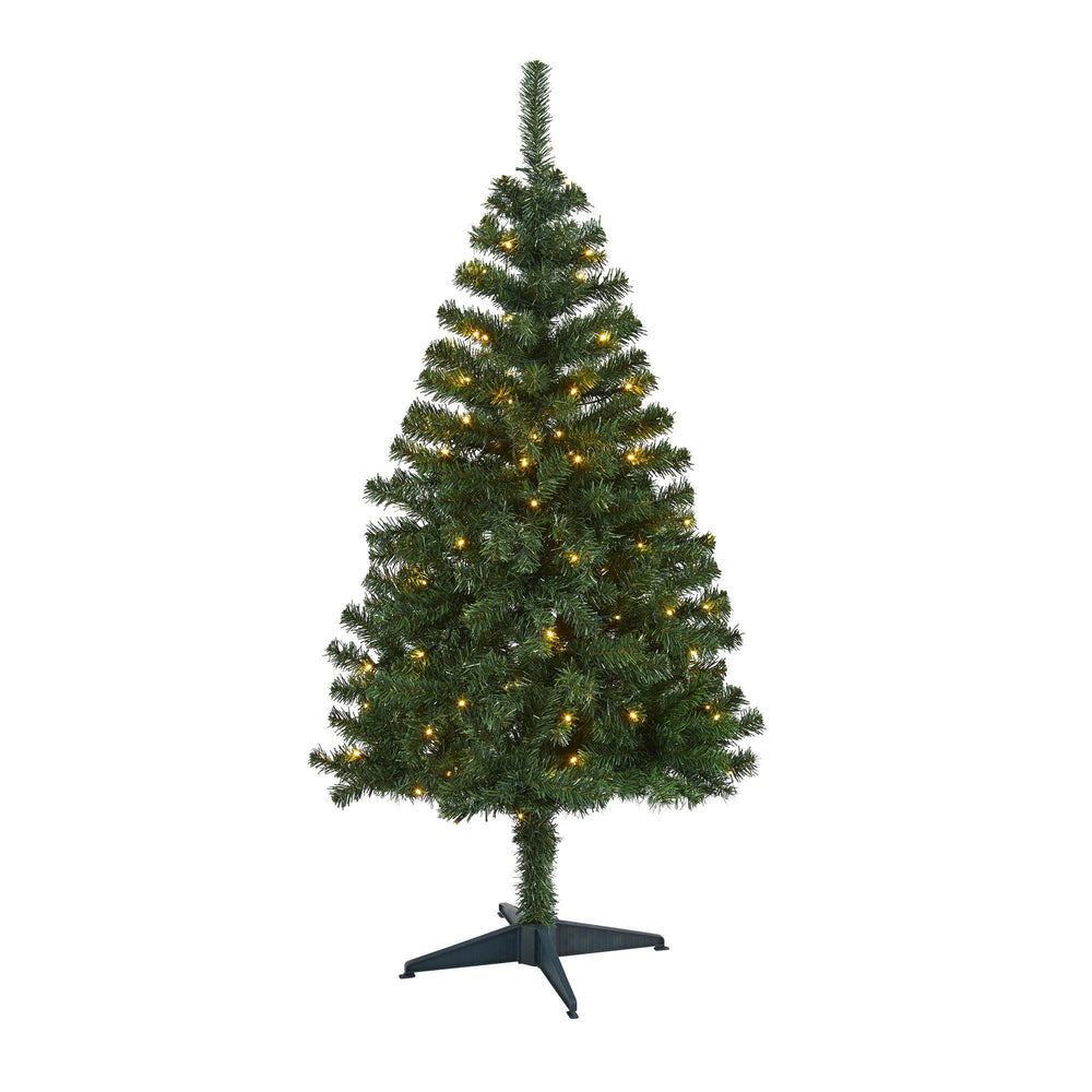 4' Northern Tip Pine Artificial Christmas Tree with 100 Clear LED Lights