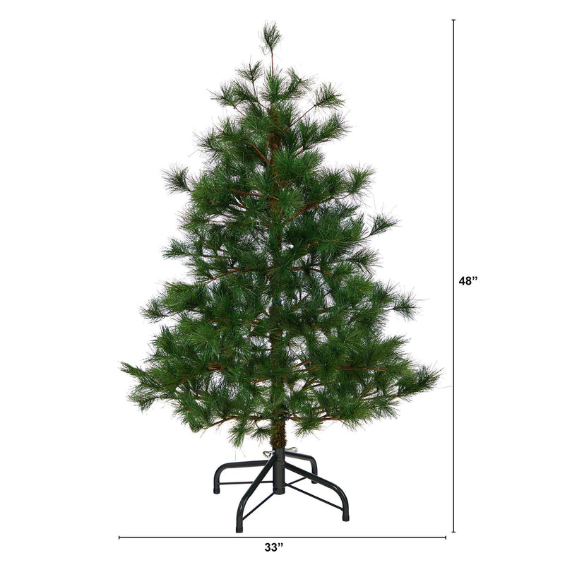 4' Yukon Mixed Pine Artificial Christmas Tree with 366 Bendable Branches