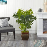 "40"" Philodendron Artificial Plant in Decorative Planter (Real Touch)"
