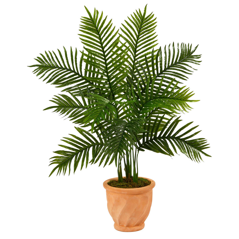"45"" Areca Palm Artificial Tree in in Terra-Cotta Planter (Real Touch)"