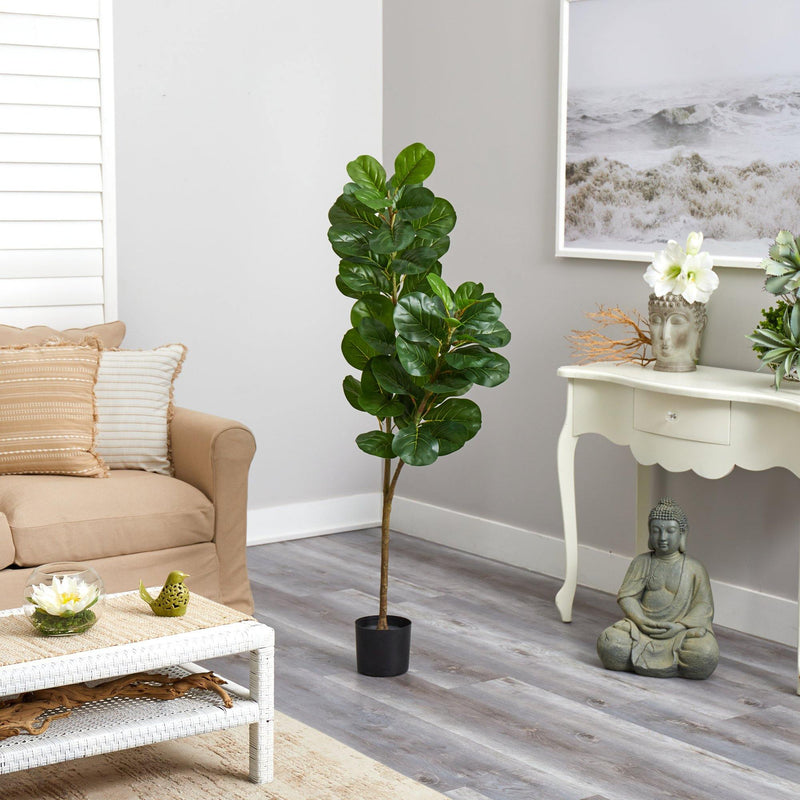 4.5' Fiddle Leaf Fig Artificial Tree