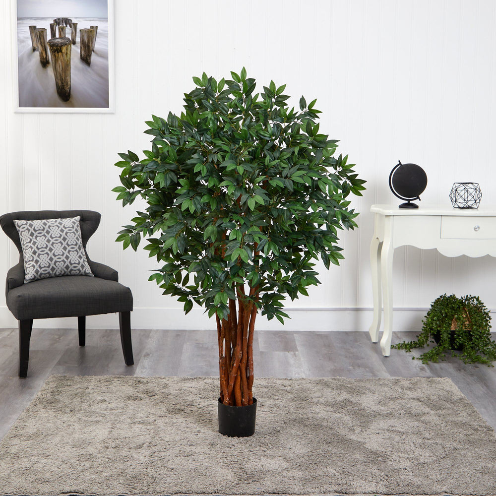 4.5' Lychee Artificial Tree with Natural Trunk