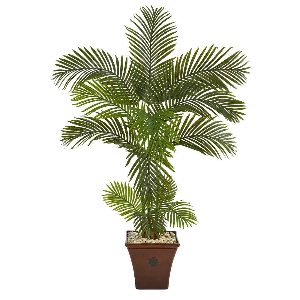 5' Areca Palm Artificial Tree in Brown Planter