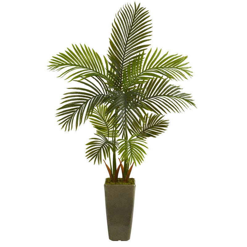 5' Areca Palm Artificial Tree in Green Planter
