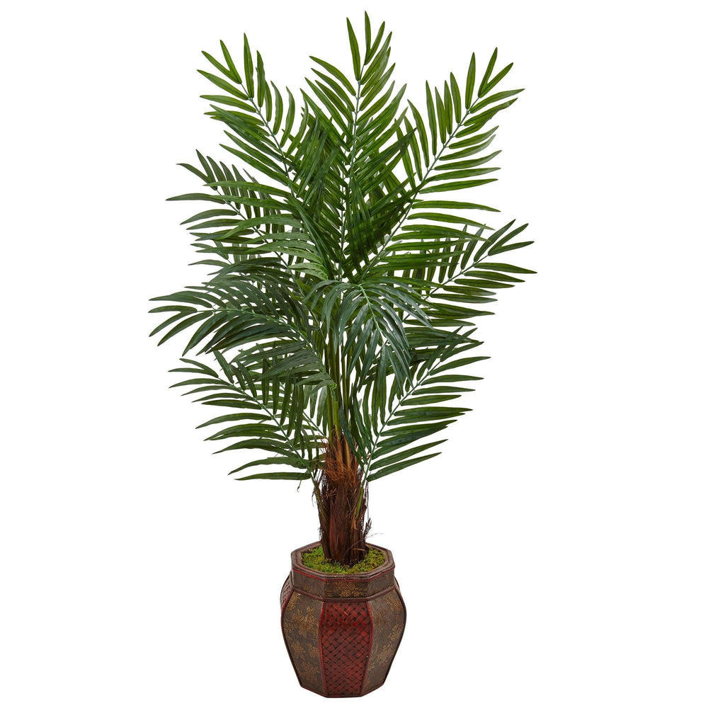 5' Areca Palm Tree in Weave Planter