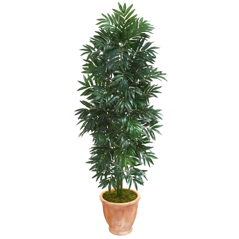 5' Bamboo Palm Artificial Plant in Terra cotta Planter