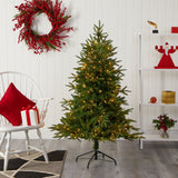 "5' Colorado Mountain Fir ""Natural Look"" Artificial Christmas Tree with 250 Clear LED Lights"