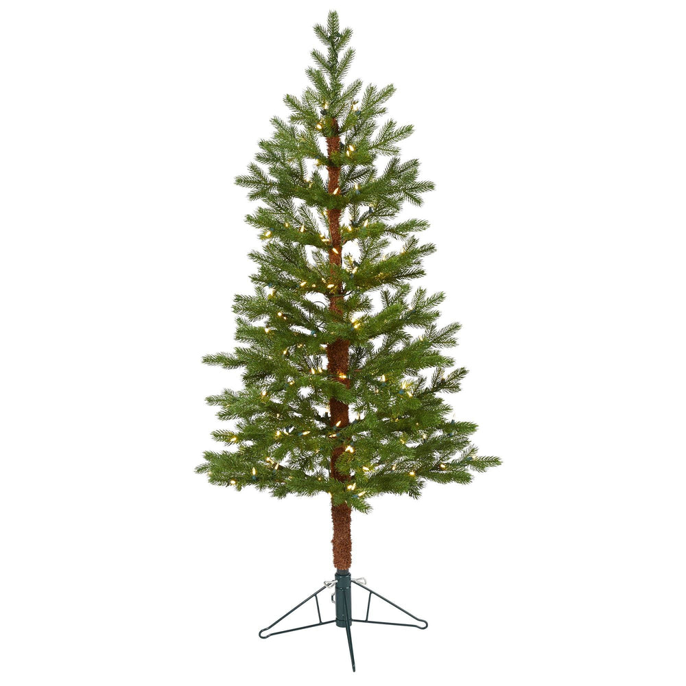 5' Fairbanks Fir Artificial Christmas Tree with 150 Clear Warm (Multifunction) LED Lights and 118 Bendable Branches