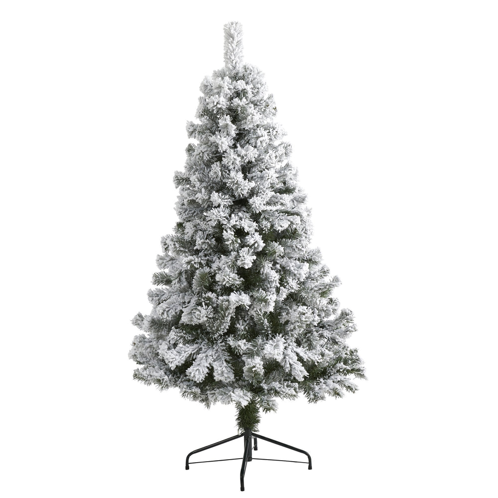 5' Flocked West Virginia Fir Artificial Christmas Tree