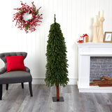 5' Grand Alpine Artificial Christmas Tree with 469 Bendable Branches on Natural Trunk