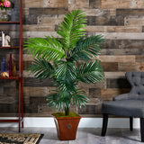 5' Kentia Artificial Palm Tree in Brown Planter