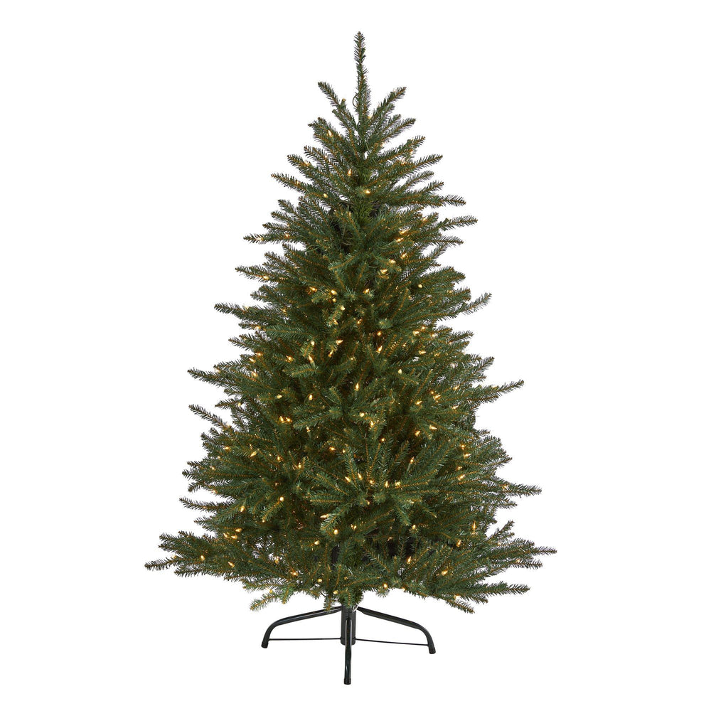 5' Napa Valley Fir Artificial Chrstmas Tree with 350 Clear Lights and 1107 Bendable Branches