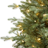 5' New Hampshire Spruce Artificial Christmas Tree with 300 Warm White Lights and 618 Bendable Branches