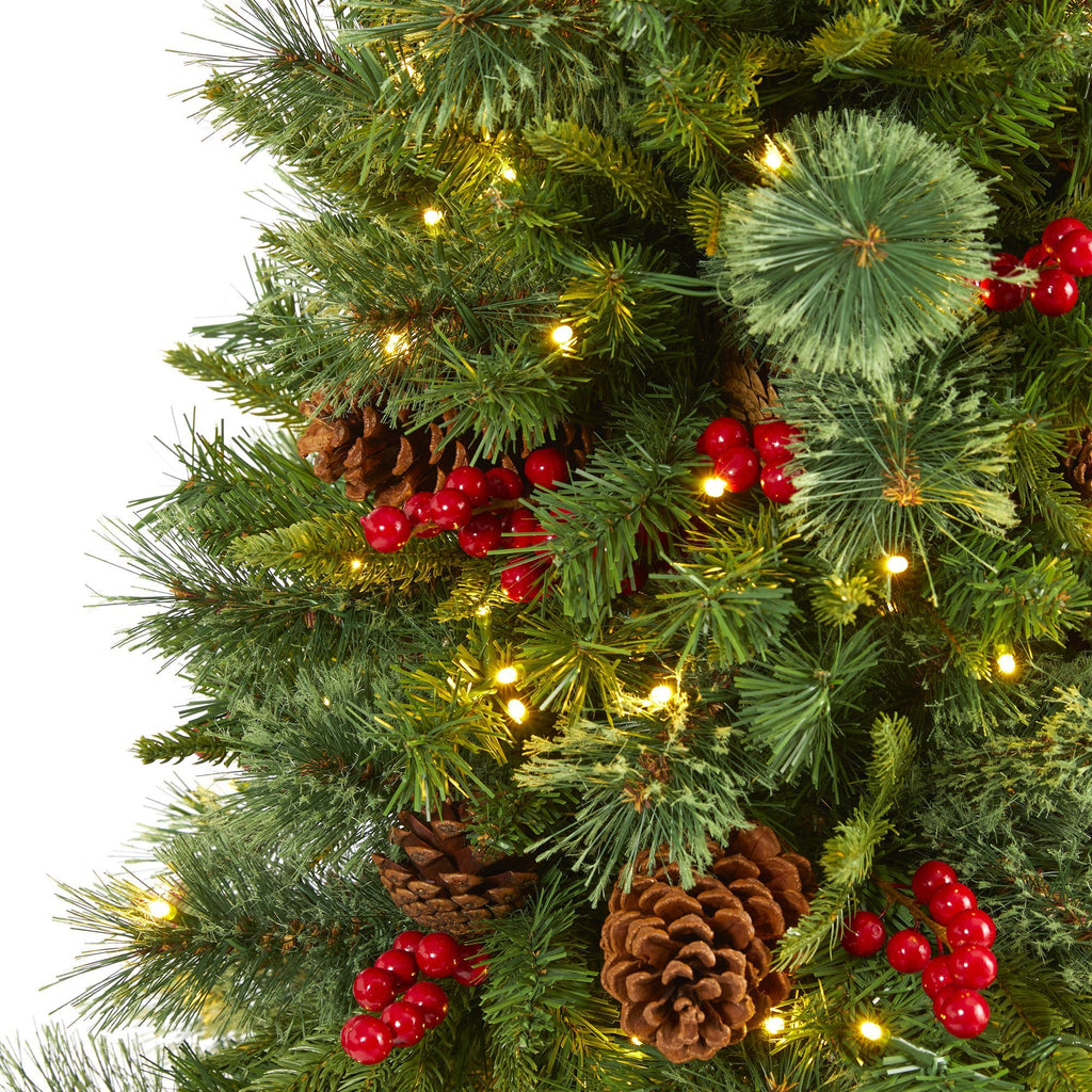 5' Norway Mixed Pine Artificial Christmas Tree with 200 ...