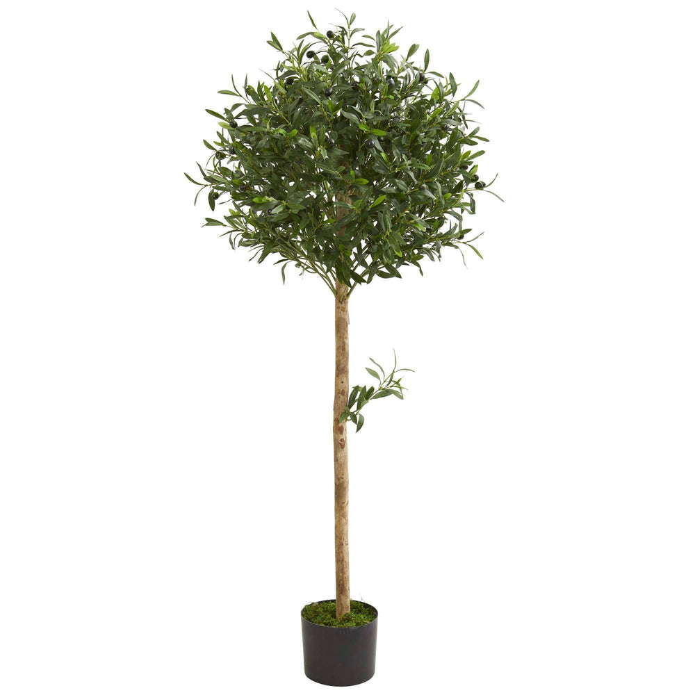 5' Olive Topiary Artificial Tree