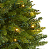 5' Sun Valley Fir Artificial Christmas Tree with 200 Clear LED Lights