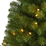 5' Virginia Fir Artificial Christmas Tree with 200 Clear Lights and 379 Bendable Branches