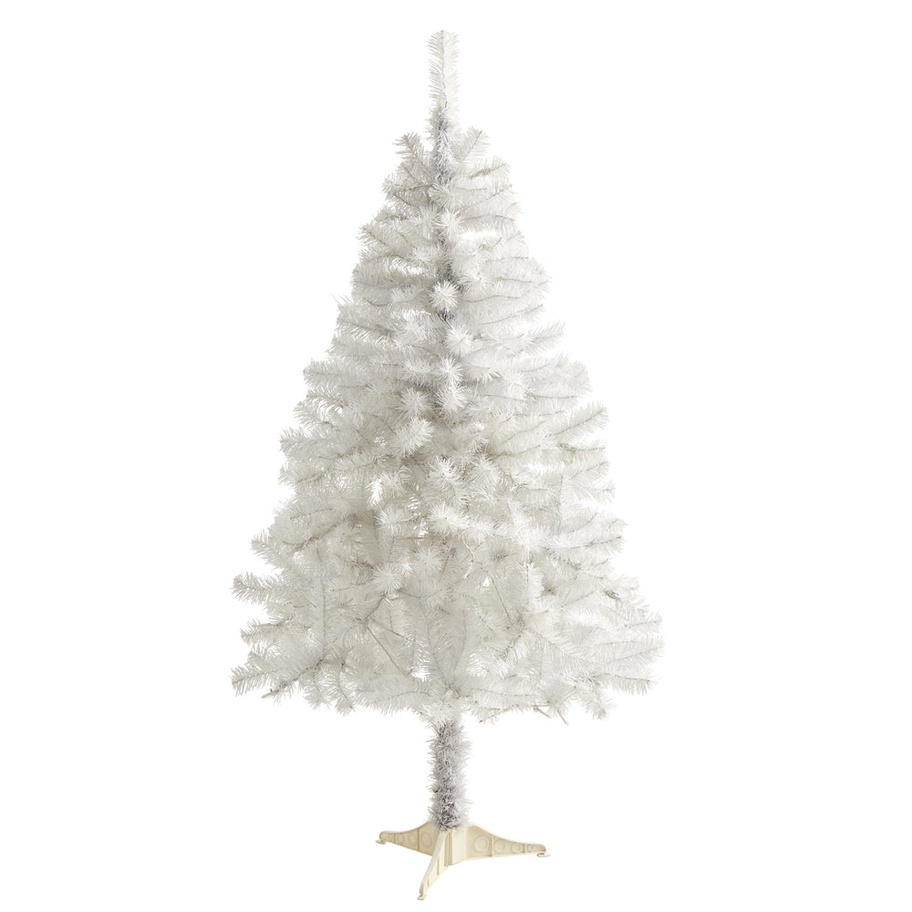 5' White Artificial Christmas Tree with 350 Bendable Branches